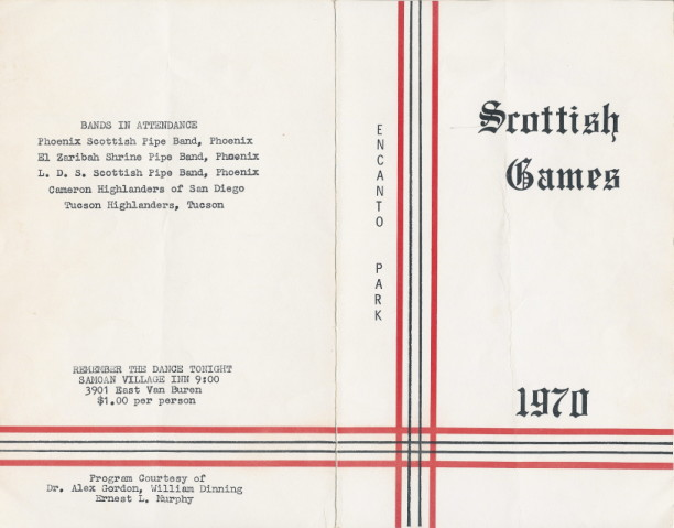 Scottish Games Program from 1970